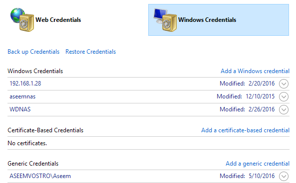 windows-credentials